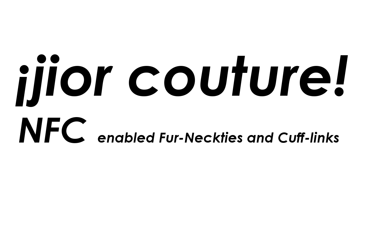 jior couture corbatas intelegentes NFC para una causa de caridad.