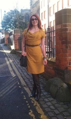 My mustard dress with bangals!