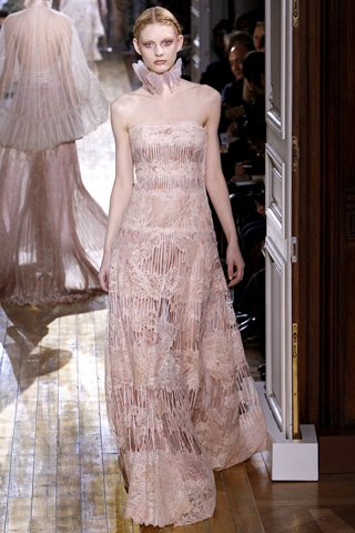 Valentino spring sheer gown couture